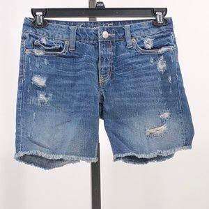American Eagle Jean Shorts Distressed Cutoff 0
